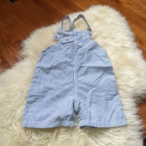 Vintage baby Gap stripped short overalls coveralls